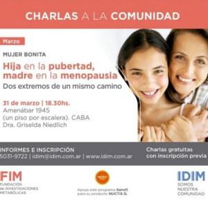 IDIM - Hija en la pubertad, madre en la menopausia