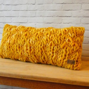 almohadon teido Girona mostaza 1