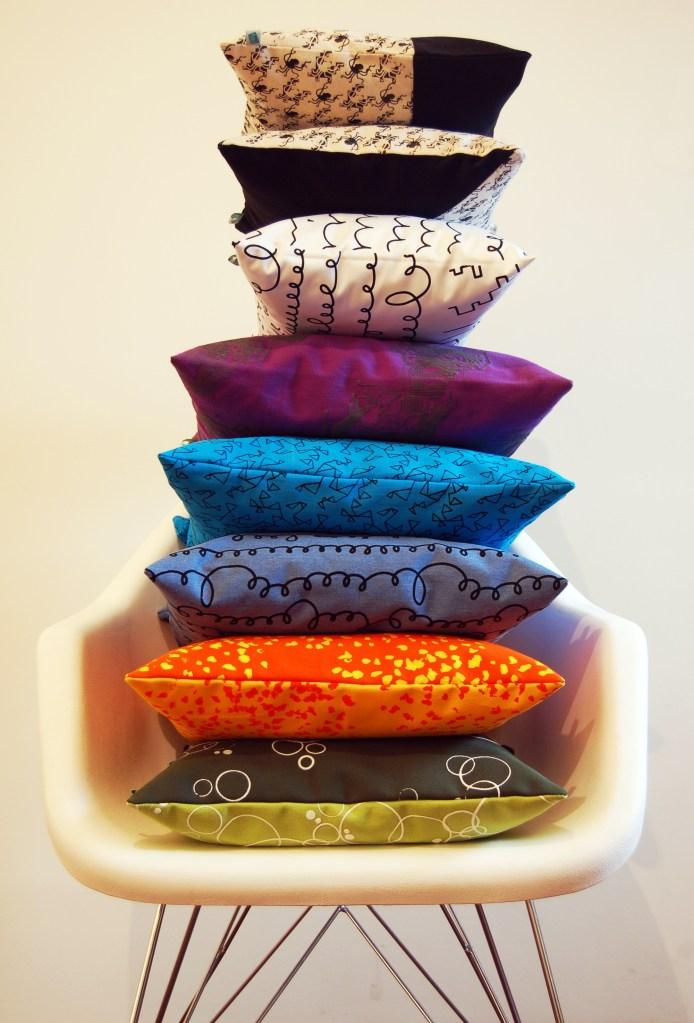 Línea 2014 de almohadones con textiles de diseños propios en HPS