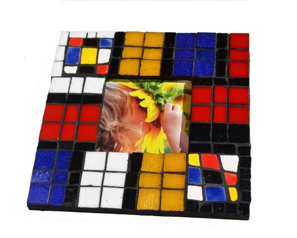 Portarretrato estilo Mondrian: es la propuesta de Grana Trencadis para el día del Padre