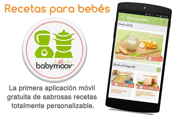 """Babymoov presenta su nueva aplicación móvil """"Recetas para bebés"""""""