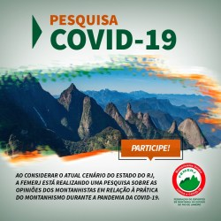 Pesquisa sobre a prática de montanhismo no estado do RJ no contexto da COVID-19