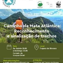 Caminho da Mata Atlântica: Reconhecimento e sinalização de trechos