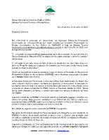 Carta à Câmara Técnica do PNSO em 11 de julho de 2012