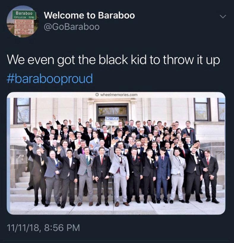 baraboo students nazi salute