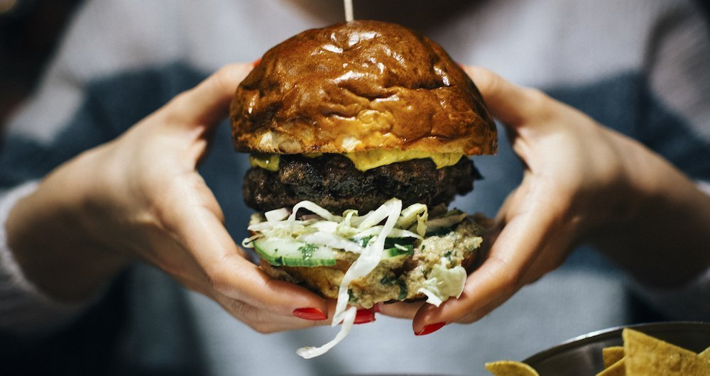 impossible whopper imititation beef burger