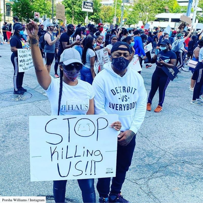 porsha williams protest george floyd