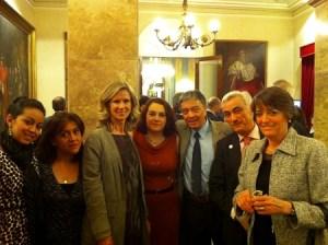 Junto con la ministra de Ciencia e Innovación, Cristina Garmendia, y el senador Ignacio Burgos