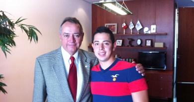 Toto Peña con el senador Ernesto Saro Boardman