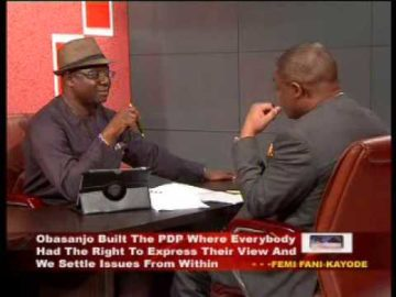 Chief Femi Fani Kayode speaks on President Jonathan Administration and PDP