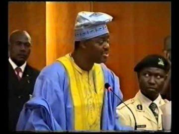 CHIEF FEMI FANI KAYODE AT THE SENATE MINISTERIAL SCREENING   2006 Pt 3