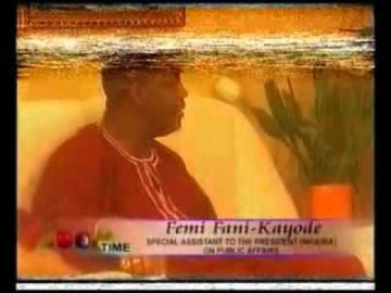 Femi Fani-Kayode, Former Minister of Aviation, At Home with Zoom Time, 2005 (Full Version) Pt 3.flv