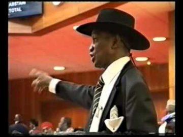 CHIEF FEMI FANI KAYODE AT THE SENATE MINISTERIAL SCREENING   2006 Pt 7