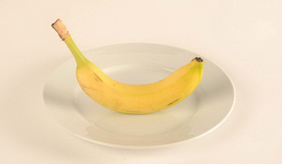 A medium-sized banana