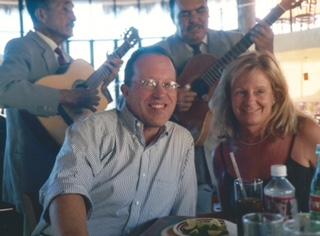 John and me. Mariachi serenade. Alamos, Sonora