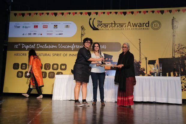 Aruna Roy presented us the award :)