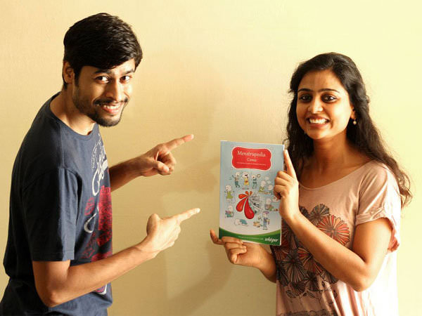 Aditi and Tuhin, creators of Menstrupedia. Source: Mediaresources.idiva.com
