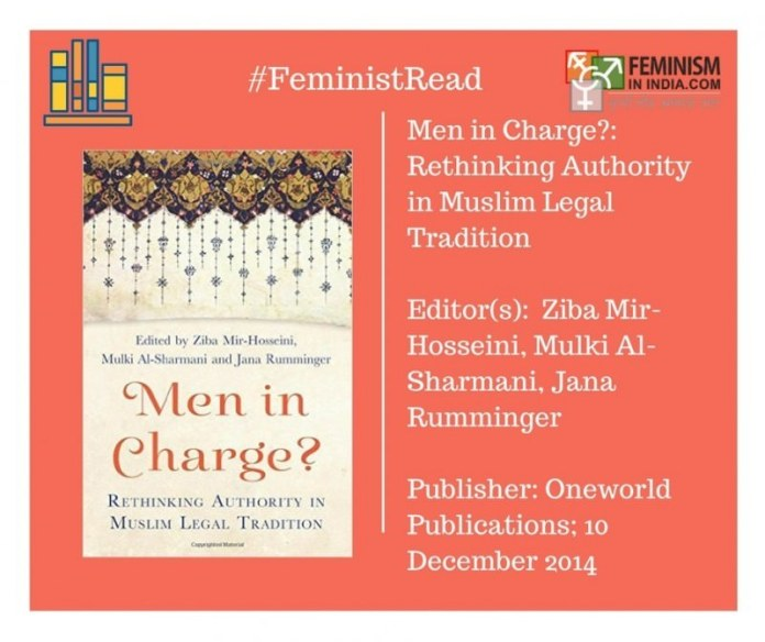Men in Charge edited by Dr. Ziba Mir-Hosseini