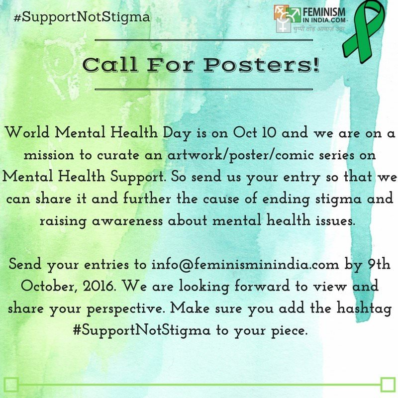 #SupportNotStigma mental health campaign
