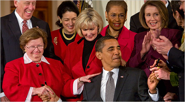 President Obama signs the Ledbetter Act (a Fair Pay Act).