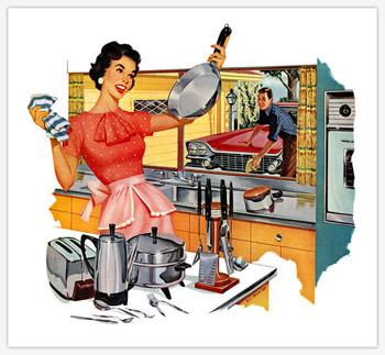 casalinga anni 50 pubblicità vintage retro