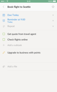To-do lijst - Wunderlist
