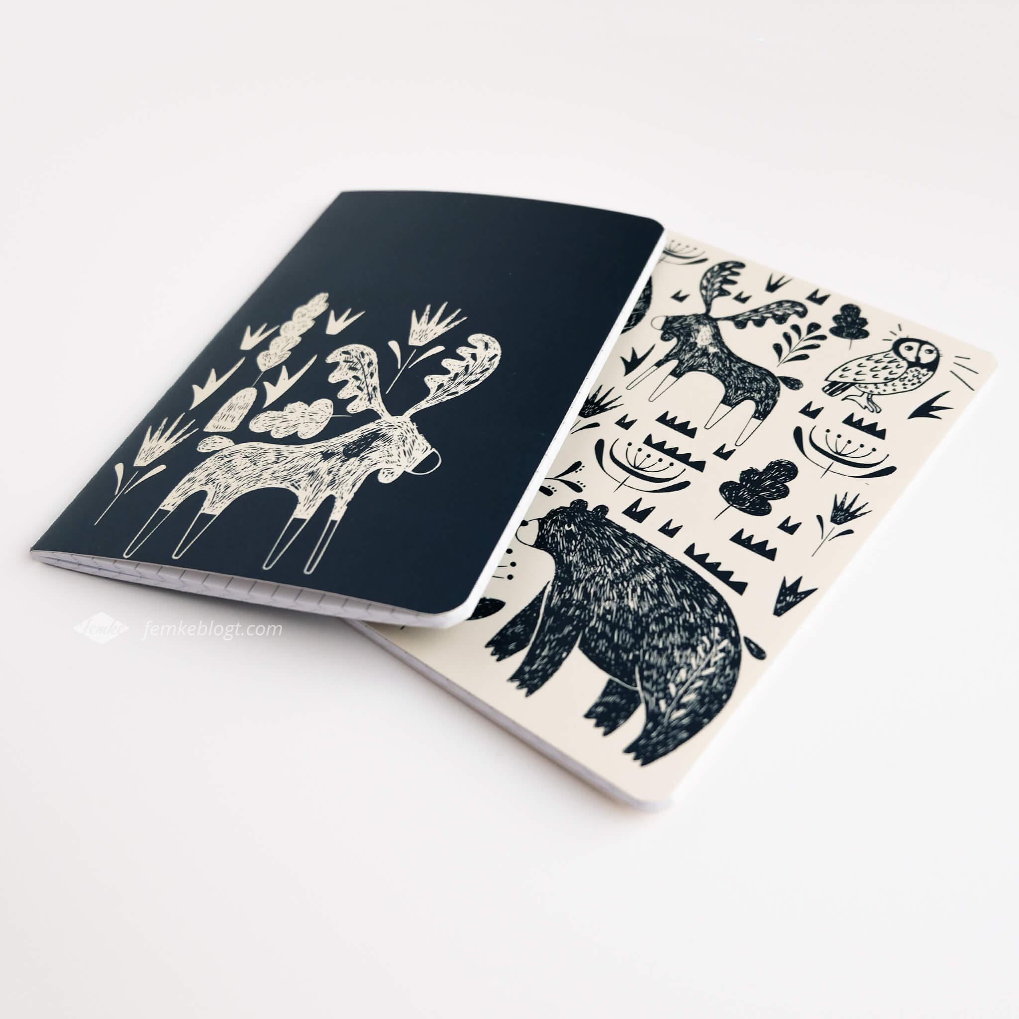 Shoplog Paperchase, notitieboekjes rendier