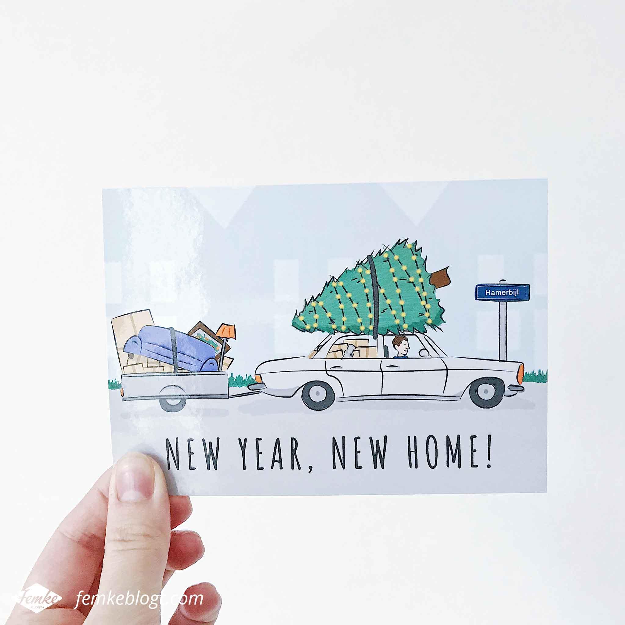 Maandoverzicht januari | Voor mijn broertje mocht ik een verhuiskaart ontwerpen