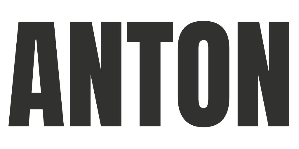 Stoer lettertype - Anton