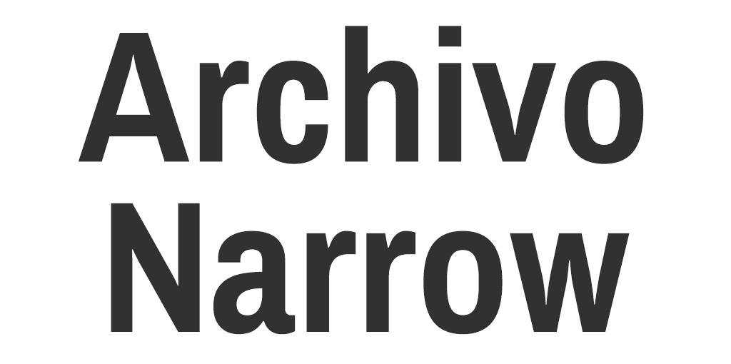 Mannelijk lettertype - Archivo Narrow