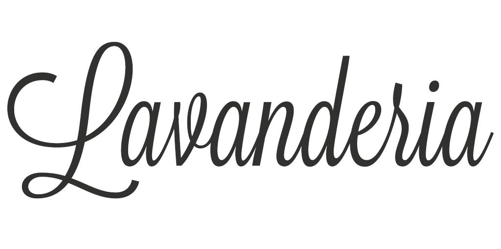 Vrouwelijk lettertype - Lavanderia