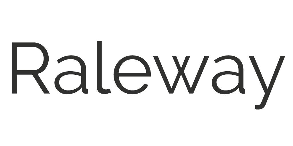 Modern lettertype - Raleway