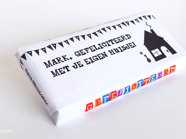 Origineel cadeau: Maak je eigen Tony's Chocolonely chocoladewikkel