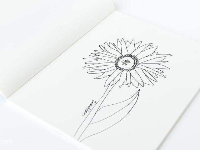 31 Dagen bloemen #10 | Zonnebloem tekenen