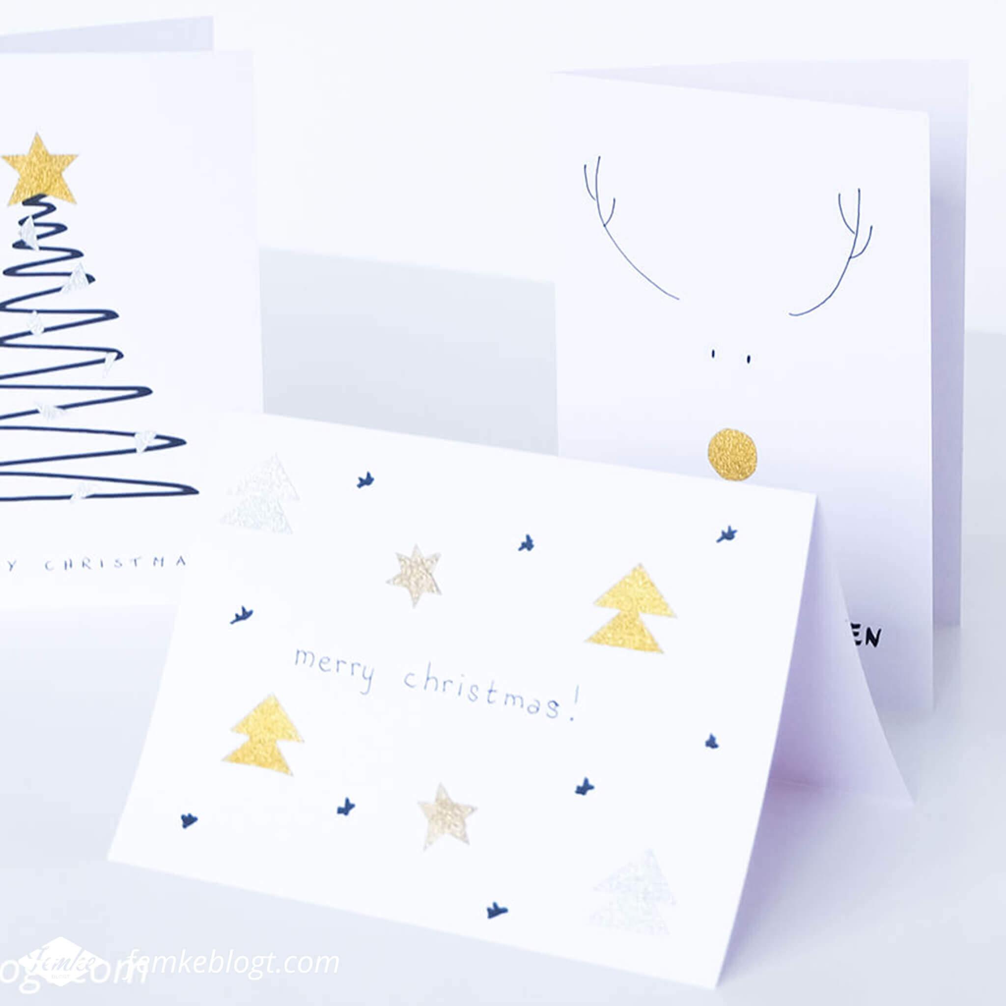 Maandoverzicht december | Kerstkaarten maken met glitter washi tape