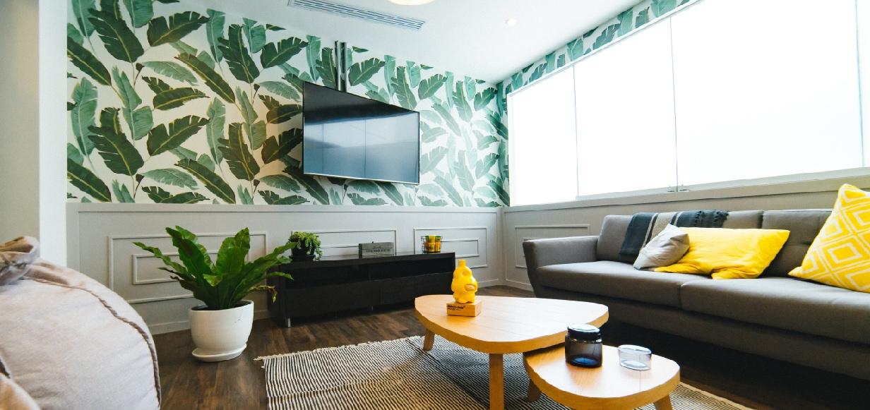 Behang met tropische print