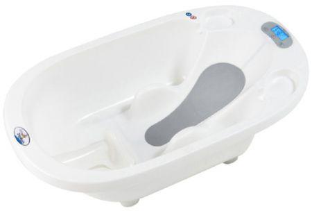 la baignoire est equipee un transat integre antiderapant pour une utilisation jusqu aux mois du bebe la partie centrale est amovible pour une utilisation