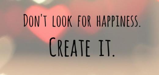 geluk, happiness, creat it