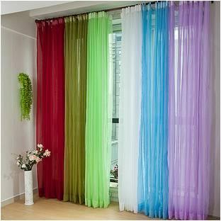 multicoloured sheer
