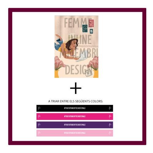 E) Pack il·lustració virtual Mmembridesign + polsera de Femme Inline