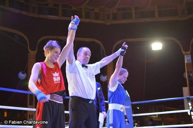 Boxing Beats - Mars 2015 - Match nul entre Julie De Swarte et Mélanie Legrand.