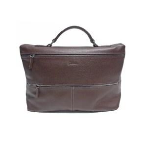 Longchamp – Porta Documenti In Pelle Foulonne Moka