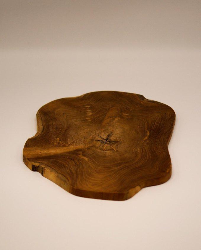 Πλατώ από ξύλο τικ διαμέτρου 40 cm