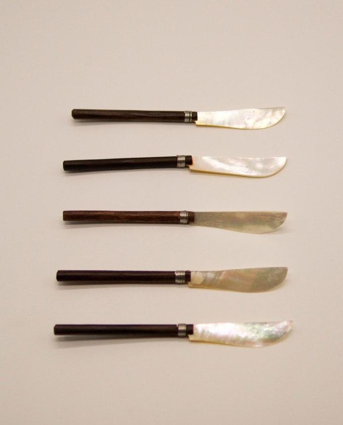 Μαχαιράκι φίλντισι με ξύλινο χερούλι Σετ 5 τεμαχίων