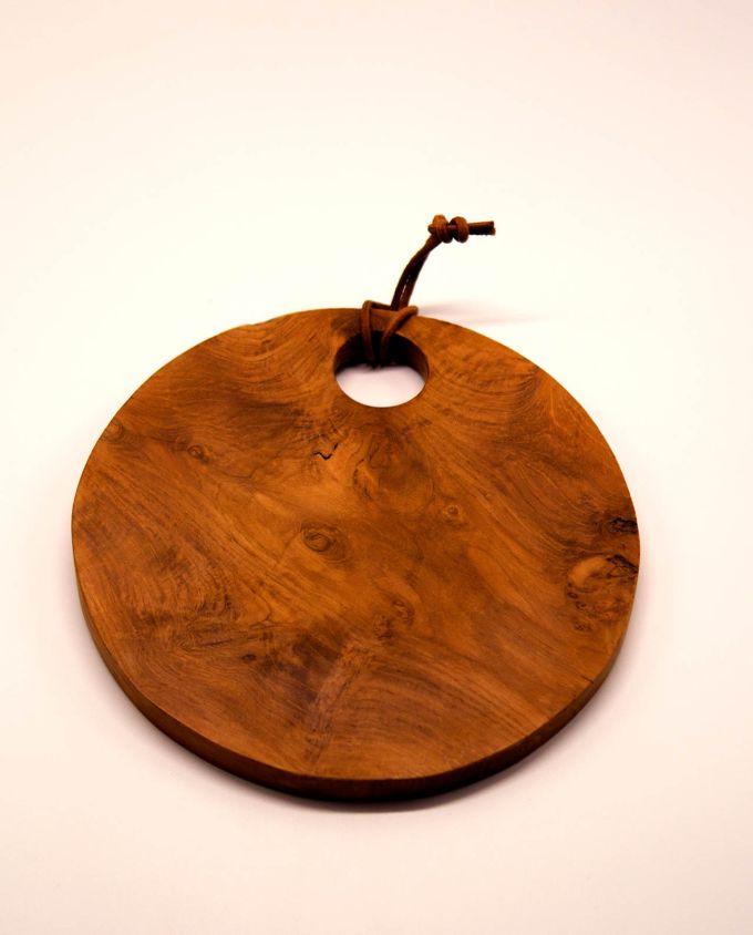 Ξύλο κοπής Τικ στρογγυλό διαμέτρου 25 cm