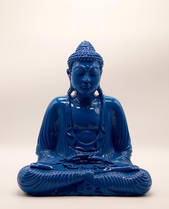 Βούδας ρητίνη ύψος 40 cm μπλε