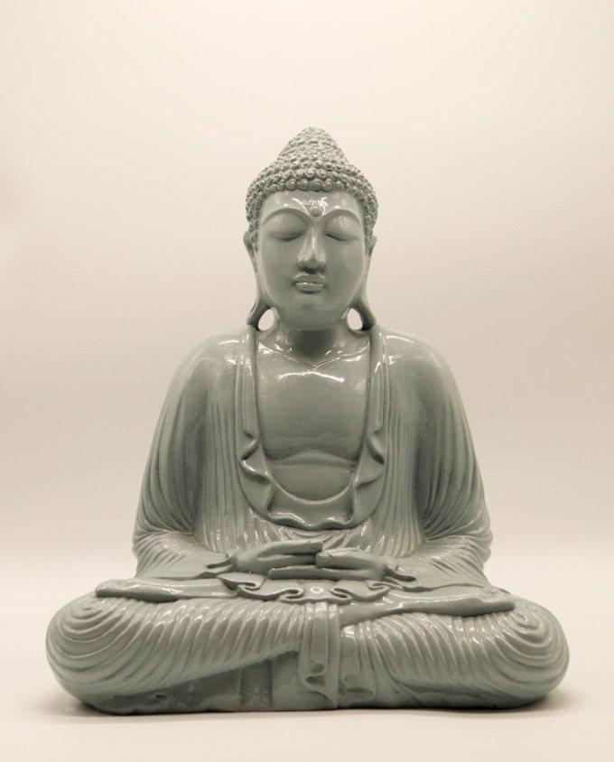 Βούδας ρητίνη ύψος 40 cm γκρι