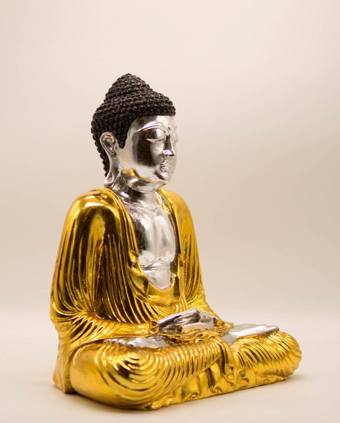 Βούδας ρητίνη ύψος 40 cm χρυσός ασημένιος