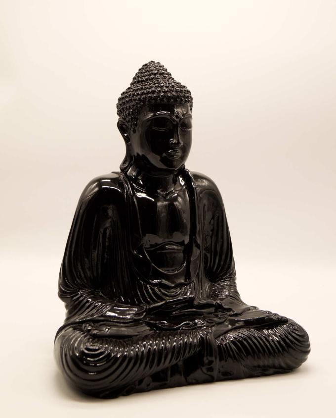 Βούδας ρητίνη ύψος 40 cm μαύρος