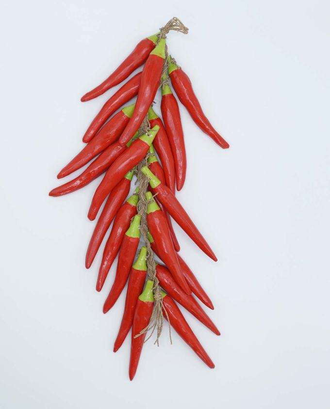 Garland of 20 wooden peppers